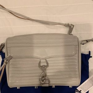 Rebecca Minkoff shoulder bag, gray/taupe color